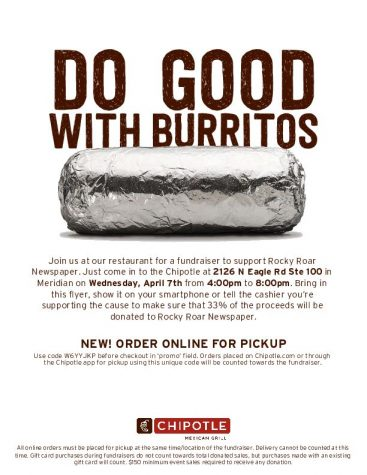 Join Us For A Fundraiser at Chipotle on 4/7!